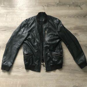 Allsaints lambskin leather bomber